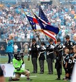 YCSO Honor Guard Presents the Colors at September 24th Carolina Panthers game