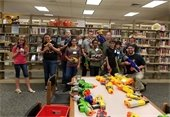 Deputies participate in after hours teen Nerf War event at Fort Mill Library