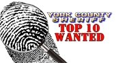 Graphic Top 10 Wanted with a finger print