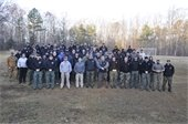 Group photo of the 2017 class of Bloodhound Handlers
