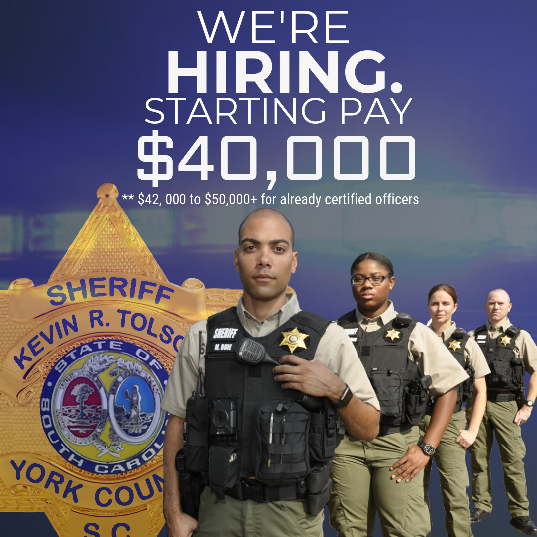 New $40,000 Salary Graphic with badge and Deputies