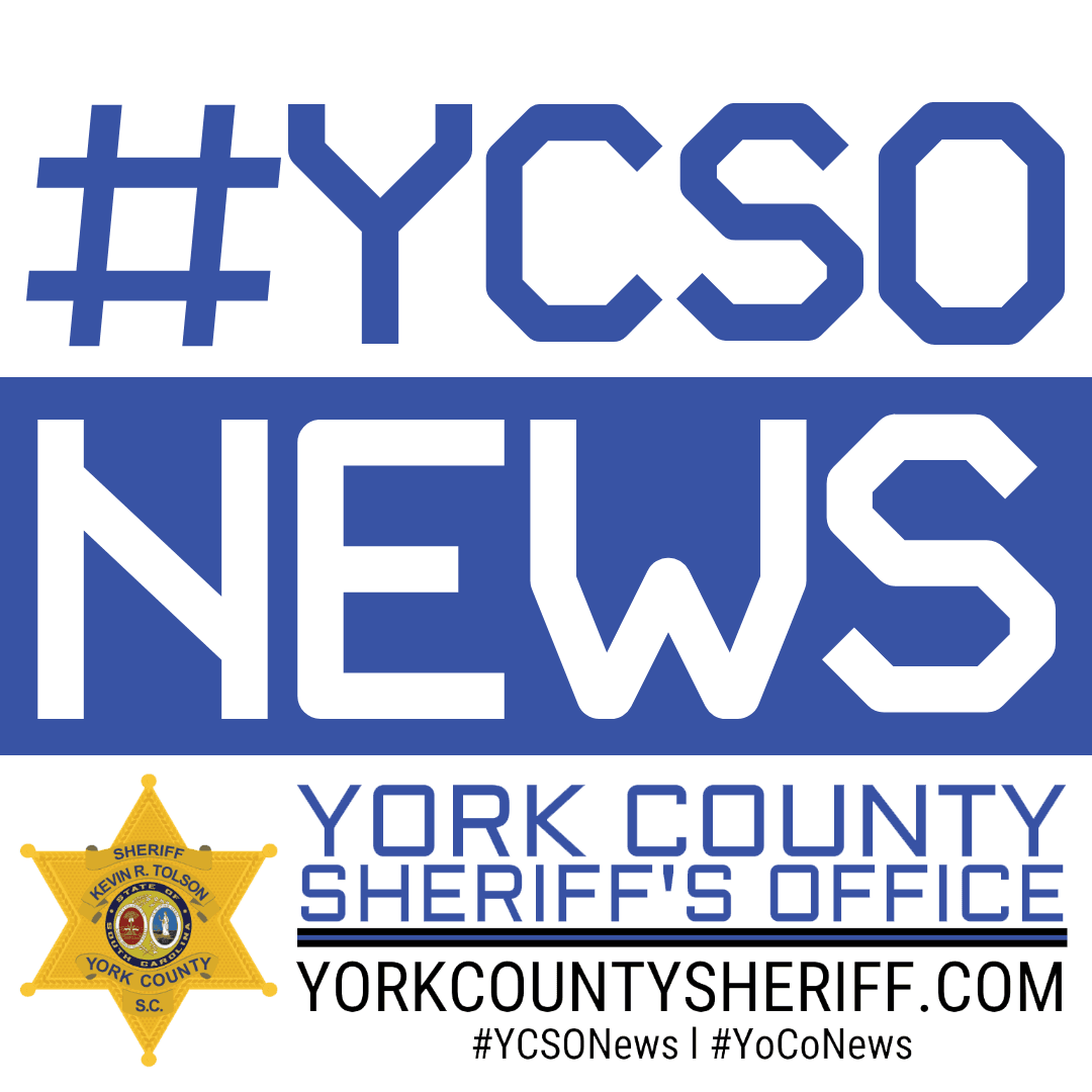 YCSO NEWS Graphic White and Blue in color.