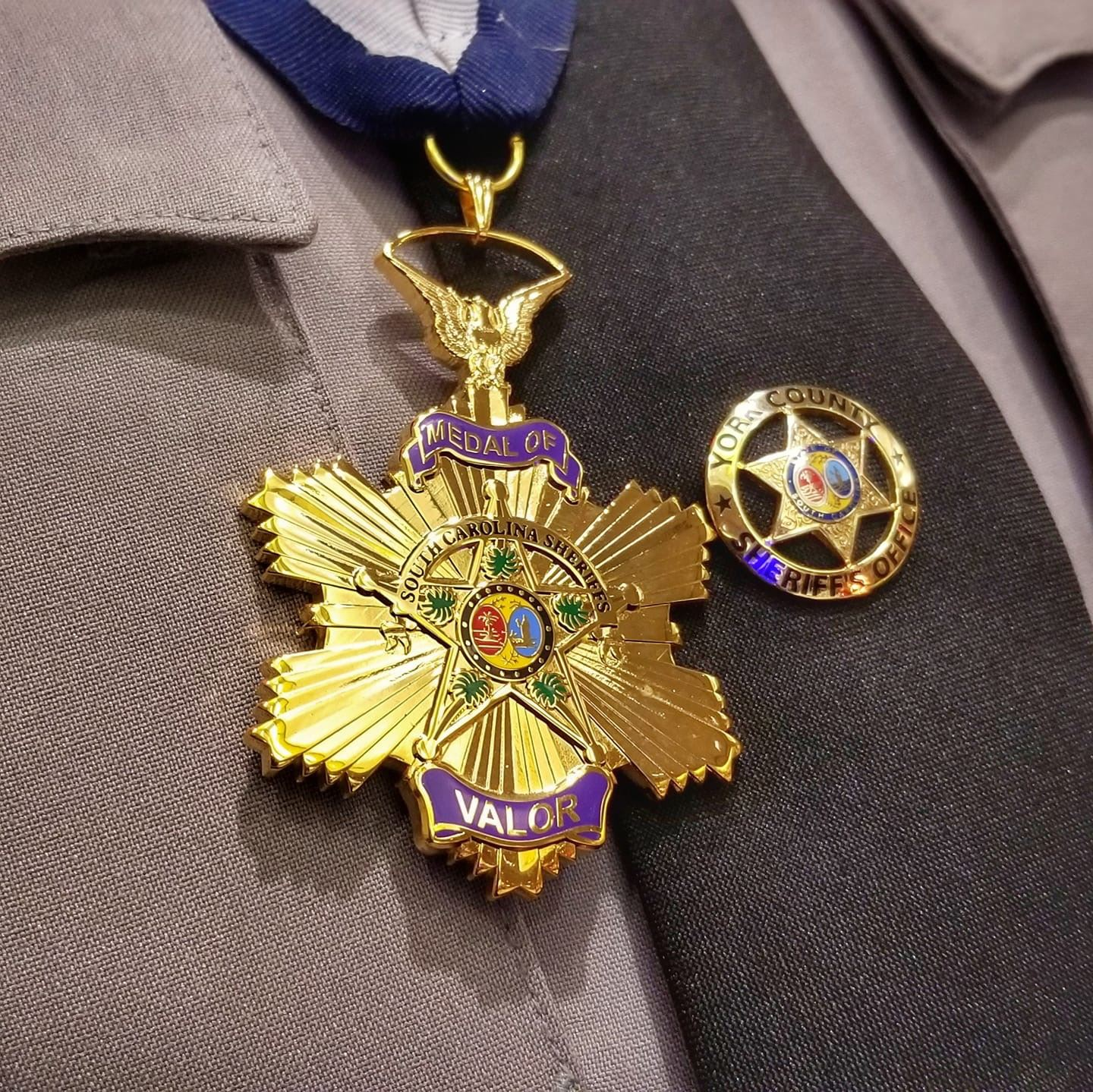 Close up picture of the Medal of Valor